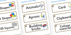 Osprey Themed Editable Classroom Resource Labels