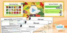 PlanIt - RE Year 2 - Nature and God Lesson 3: Harvest (Christianity) Lesson Pack