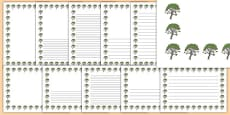Rowan Tree Themed Page Borders