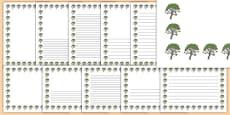 Rowan Tree Themed Page Borders