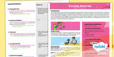 PlanIt - Science Year 1 - Everyday Materials Planning Overview