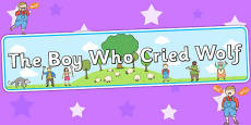 The Boy Who Cried Wolf Display Banner