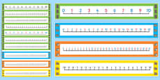 Houses and Homes Number Line