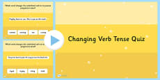 Changing Verb Tense by Adding  ing SPaG PowerPoint Quiz
