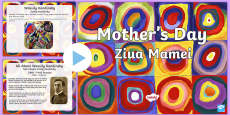 * NEW * Mother's Day Art PowerPoint English/Romanian