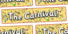Carnival Display Banner