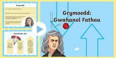 Grymoedd: Gwahanol Fathau PowerPoint
