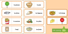 * NEW * Different Foods Card Game French