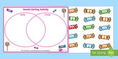 Venn Diagram Sweets Sorting Activity