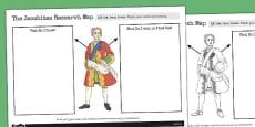 The Jacobites Mindmap Sheet