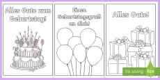 Birthday Cards German