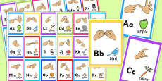 British Sign Language Alphabet Image Flash Cards