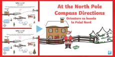 KS1 North Pole Christmas Directions PowerPoint English/Romanian