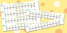 The Lion And The Mouse Number Lines 0-10