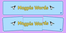 Magpie Words Display Banner