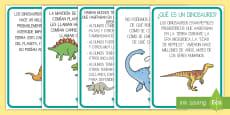 Tarjetas informativas: Los dinosaurios