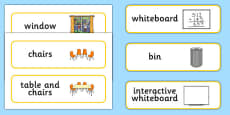 Classroom Furniture Labels