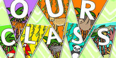 Welcome to Our Class Bunting Jungle Themed