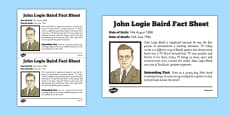Scottish Significant Individuals John Logie Baird Fact Sheet