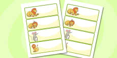 The Lion And The Mouse Editable Drawer Peg Name Labels