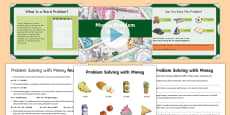 * NEW * Money Problem Solving PowerPoint Pack