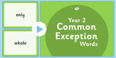 Year 2 Common Exception Words PowerPoint