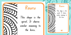 Rauru Pattern A4 Display Poster