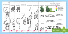 * NEW * Colour by Size Activity Sheets English/Polish