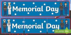 * NEW * Memorial Day Display Banner