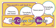 Attention Call Backs Display Pack