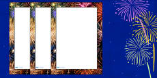 Firework Photo Page Borders