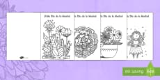 * NEW * Manualidad: Tarjetas para colorear mindfulness para el Día de la Madre