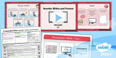PlanIt - Computing Year 2 - Presentation Skills Lesson 5: Reorder Slides and Present Lesson Pack