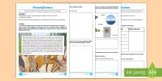 * NEW * Figurative Language -  Personification Differentiated Go Respond Activity Sheets