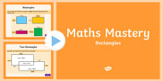 Year 5 Geometry Shape Rectangles Maths Mastery Activities PowerPoint