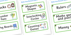 Beaver Themed Editable Maths Area Resource Labels