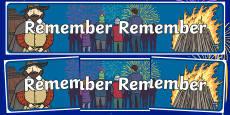 Remember Remember Themed Banner