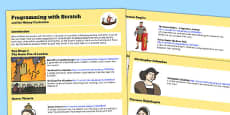 Programming with Scratch and the History Curriculum Help Sheets - Australia