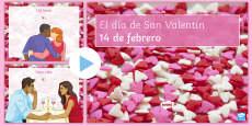 * NEW * Valentine's Day Vocabulary PowerPoint Spanish