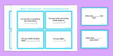 Bloom's Taxonomy Level 1 Remembering Challenge Cards