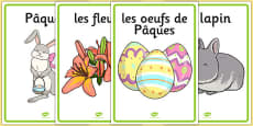 Easter Display Posters French