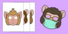 Five Little Monkeys Jumping Role Play Masks