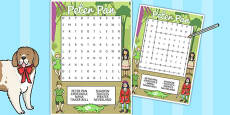 Peter Pan Wordsearch