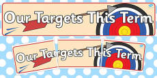 Our Targets this Term' Banner