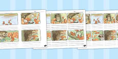 The Tale of Squirrel Nutkin Storyboard Template (Beatrix Potter)