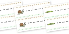 Number and Alphabet Strips (Minibeasts)