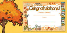 Australia - Autumn Certificates