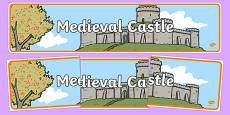 Medieval Castle Role Play Display Banner