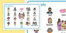 Family Word Mat Cymraeg