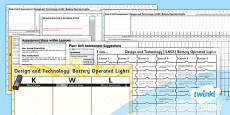 PlanIt - DT LKS2 - Battery Operated Lights Unit Assessment Pack